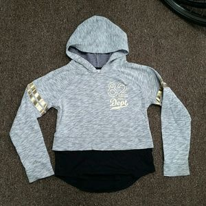 Danskin Gray and Gold Hoodie